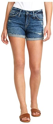 Silver Jeans Co. Suki Mid-Rise Curvy Fit Shorts L53960SGX351 (Indigo) Women's Shorts