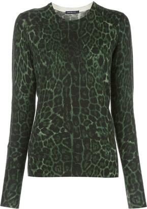 Samantha Sung leopard print jumper