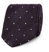 Drake's - 8cm Polka-dot Wool And Silk-blend Tie
