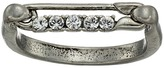 Marc Jacobs Safety Pin Strass Ring