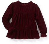 Girl's Peek Demi Velvet Top