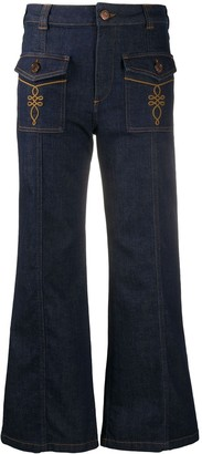 See by Chloe High Rise Flared Leg Jeans