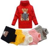 Anluke Cute Cool Kid Turtleneck Sweaters For Christmas Halloween (Girls Boys Baby) (XL(6X),)