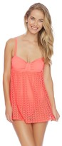 Nautica Vineyard Crochet Soft Cup Swim Dress