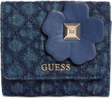 GUESS Stassie Card Case Denim Wallet