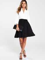 Very Tie Waist Formal Dress - Monochrome