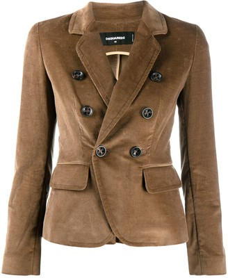 DSQUARED2 double-breasted corduroy blazer