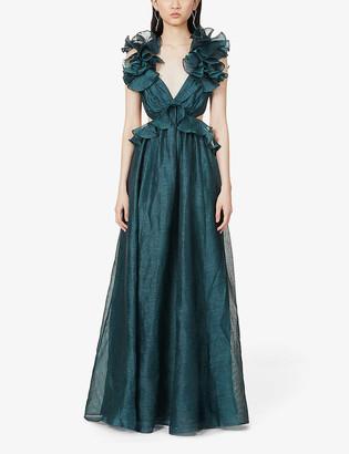 Zimmermann Ladybeetle ruffled linen and silk-blend maxi dress