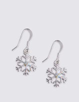 M&S Collection Snowflake Drop Earrings