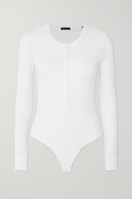 ATM Anthony Thomas Melillo Ribbed Stretch-micro Modal Bodysuit - White
