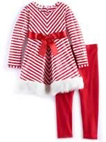 Bonnie Jean Girls 4-6x Striped Dress & Legging Set