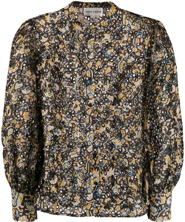 Antik Batik floral cut out blouse