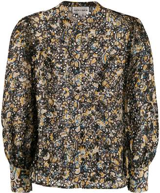 Antik Batik floral cut out blouse