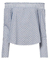 Derek Lam 10 Crosby Off-The-Shoulder Shirting Top