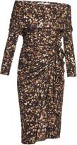 Givenchy Baby's-breath and cross-print ruffled dress