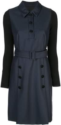 Paule Ka button detail belted dress