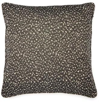 Tibor - Super Granite Brocade Cotton-blend Cushion - Black And White