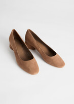 And other stories Suede Ballerina Heeled Pumps
