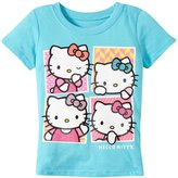 Hello Kitty Cute Frames Tee (Toddler/Kid) - Blue Curacao - 6