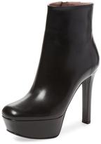 Leila Leather Platform Ankle Bootie
