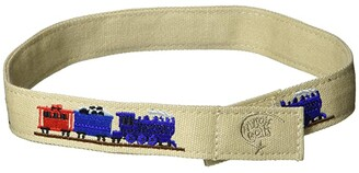 Myself Belts Easy One Handed Belt Train (Toddler/Little Kids/Big Kids) (Khaki) Kid's Belts