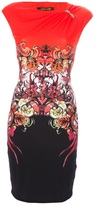 Roberto Cavalli baroque print dress