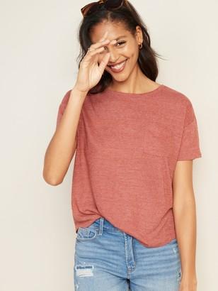 Old Navy Loose-Fit Linen-Blend Pocket Easy Tee for Women