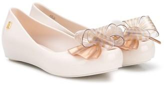 Mini Melissa Bow Detail Ballerina Shoes