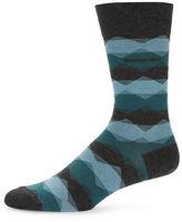 HUGO BOSS Geometric Wave Dress Socks