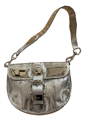 Gucci Silver Exotic leathers Handbags