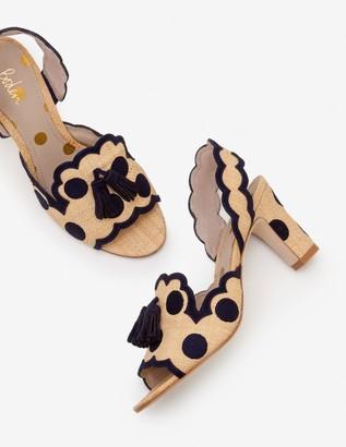 Boden Clover Embroidered Heels