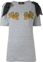 DSQUARED2 lion T-shirt - women - Cotton/Viscose/Silk - XS