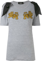 DSQUARED2 lion T-shirt - women - Silk/Cotton/Viscose - XS