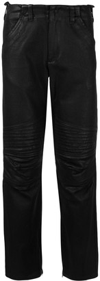 Helmut Lang Pre Owned 1999 Quilted Artificial Leather Trousers