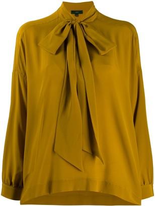 Jejia Iris pussy-bow silk blouse