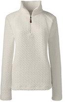 Classic Women's Plus Size Herringbone Fleece Half-zip-Norway Spruce Plaid