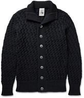 S.n.s. Herning - Stark Basketweave Virgin And Merino Wool-blend Cardigan