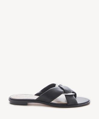 Sole Society Women's Sainne Criss Cross Flat Sandals Cider Size 5 Leather From