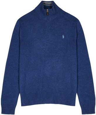 Polo Ralph Lauren Charcoal wool and cashmere-blend jumper
