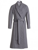 Emma Willis Grey Pow Check Dressing Gown