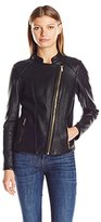 Calvin Klein Women's Textured Moto Jacket