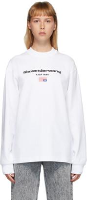 Alexander Wang White Flag Graphic Long Sleeve T-Shirt