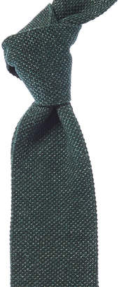 Isaia Green Knit Tie