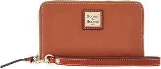 Dooney & Bourke Pebble Leather Zip Around Phone Wristlet