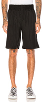 Comme des Garcons Cotton Poplin Shorts in Black.