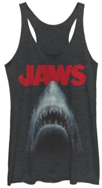 Fifth Sun Jaws Shark in Dark Waters Classic Icon Tri-Blend Racer Back Tank