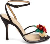 Charlotte Olympia Tropicana silk sandals