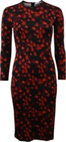 Givenchy Red Floral Print Dress