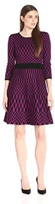 Taylor Dresses Women's Geo Print Sweater Dress