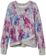 Athleta Girl Printed Criss Cross My Heart Sweatshirt